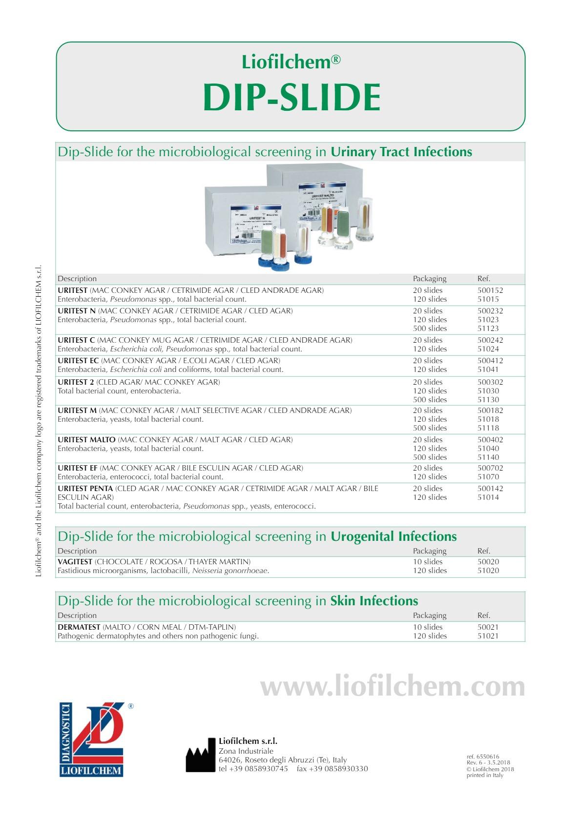 Liofilchem® DIP-SLIDE